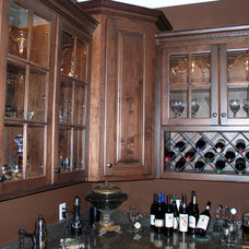 Traditional Wine Cellar by Raymond Smith's Cabinet Shop Inc