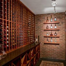 Eclectic Wine Cellar by Cravotta Interiors