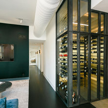 Modern Wine Cellar by Joseph and Curtis Custom Wine Cellars