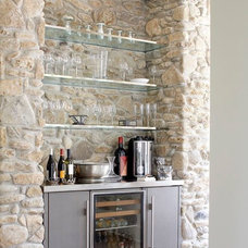Contemporary Wine Cellar by Tim Thompson Designs