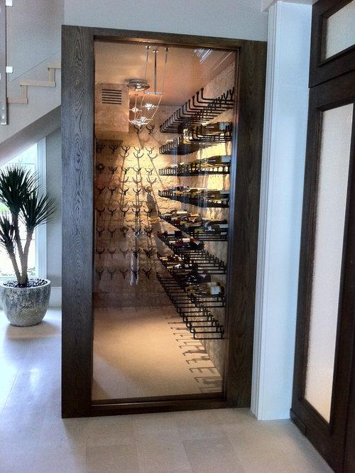 Modern wine cellar design ideas remodels photos for Walk in wine cellars