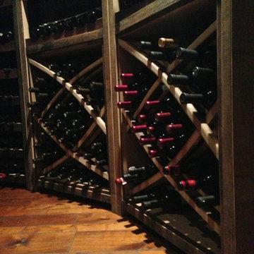 Eco-Friendly Chino Hills Los Angeles California Custom Wine Cellar Under Stairs