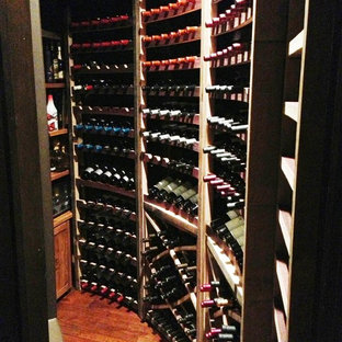 Eco-Friendly Chino Hills Los Angeles California Custom Wine Cellar Under Stairs