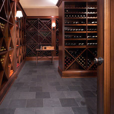 Mediterranean Wine Cellar by Erotas Building Corporation