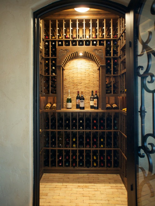 Small wine cellar design ideas remodels photos with for Small basement wine cellar