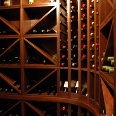 Craftsman Wine Cellar by Talee Renovations Inc.