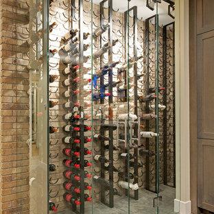 ミネアポリスのエクレクティックスタイルのおしゃれなワインセラーの写真