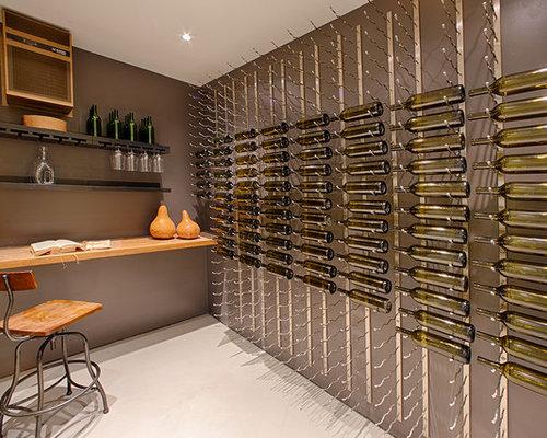 Modern wine cellar design ideas renovations photos with for Wine cellar flooring options