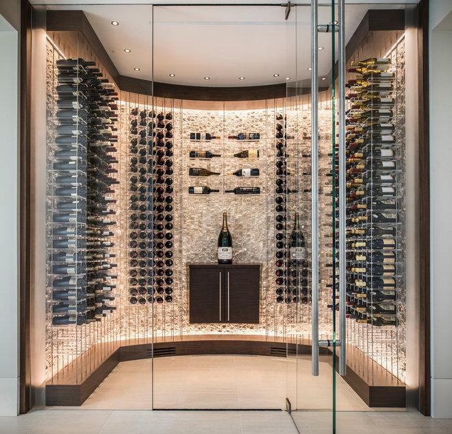Contemporary Wine Cellar by Kessick Wine Storage Systems