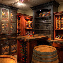 traditional wine cellar by Elmwood Fine Custom Cabinetry