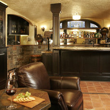 Traditional Wine Cellar by Ronda Divers Interiors, Inc.