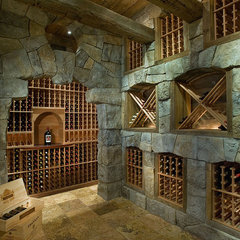 mediterranean wine cellar by Interiors by Mary Susan