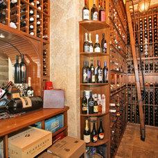 Eclectic Wine Cellar by Liggatt Development, Inc