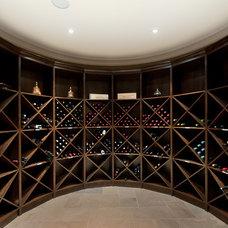 Contemporary Wine Cellar by blurrdMEDIA