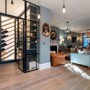 Contemporary wine cellar in London.