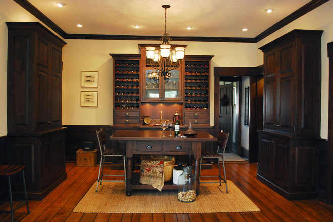 Traditional Wine Cellar by The Bellepoint Company
