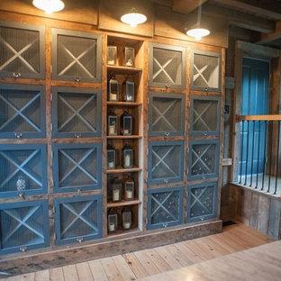 Landhausstil Weinkeller mit diagonaler Lagerung in Portland Maine