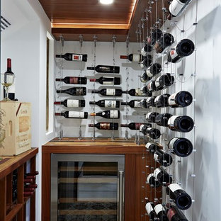 Ex&le of a small tuscan multicolored floor and ceramic floor wine cellar design in T&a with & 30 Trendy Ceramic Floor Wine Cellar Design Ideas - Pictures of ...