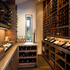 Contemporary Wine Cellar by AB design studio inc.
