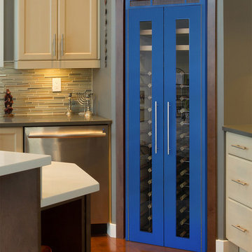Formica Wine Cabinets with Glass Doors