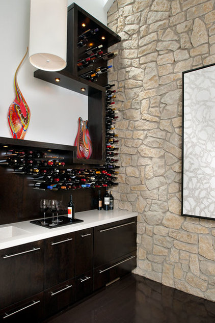 Contemporary Wine Cellar by NOTION, LLC