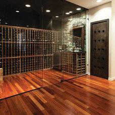 Contemporary Wine Cellar by MOD Construction Inc.