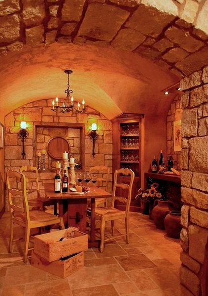 Traditional Wine Cellar by VanBrouck & Associates, Inc.