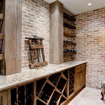 French Country in Garden Oaks - Wine Cellar