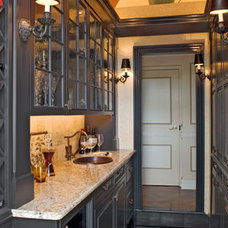 Traditional Wine Cellar by Wilson Kelsey Design