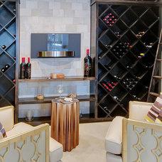 Modern Wine Cellar by Hensley Premier Builders