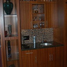 Modern Wine Cellar by Santori Woodworking