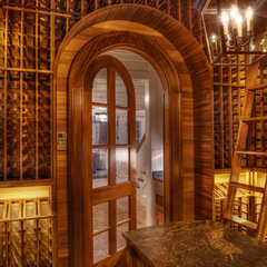 traditional wine cellar by Gabriel Builders Inc.