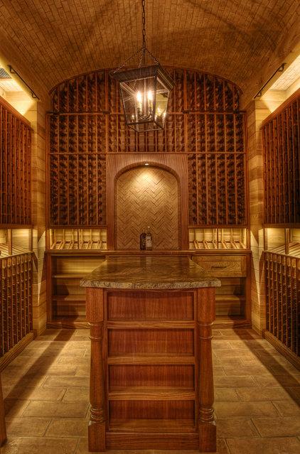 Beach Style Wine Cellar by Gabriel Builders Inc.