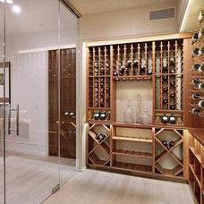 Contemporary Wine Cellar by Spinnaker Development