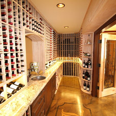 Traditional Wine Cellar by Archipelago Hawaii Luxury Home Designs