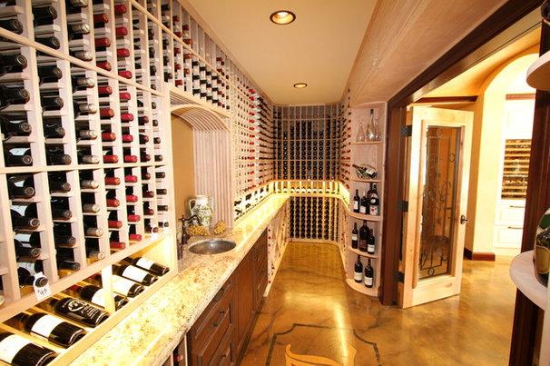 Traditional Wine Cellar by Archipelago Hawaii Luxury Home Designs