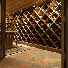 Traditional Wine Cellar by Granite Connection, LLC