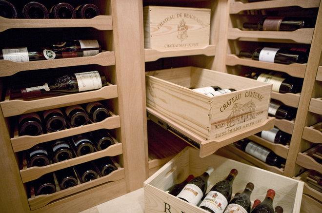 Traditional Wine Cellar by Revel Custom Wine Cellars