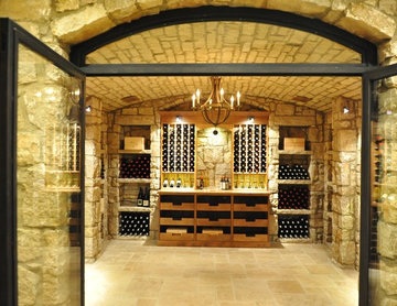 Glass Enclosed Custom Walk in Wine Cellar in Memphis, Tennessee Custom Wine Rack