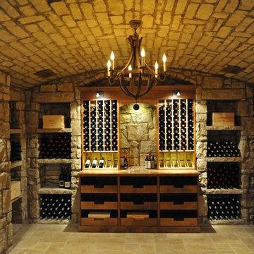 Glass Enclosed Custom Walk in Wine Cellar in Memphis, Tennessee Custom Wine Rack