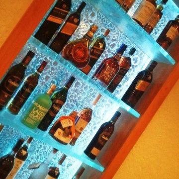 Glass LED shelving