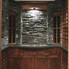 Contemporary Wine Cellar by Rollin Fox, Sleeping Grape Wine Cellars