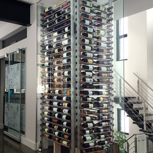 Glass wine cellar in the living room -12-