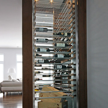 Glass wine cellar in the living room -4-