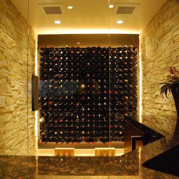 Glass Wine Cellar - Laguna Niguel, California