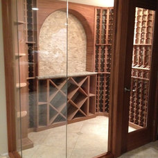 Traditional Wine Cellar by Redwood Wine Cellars
