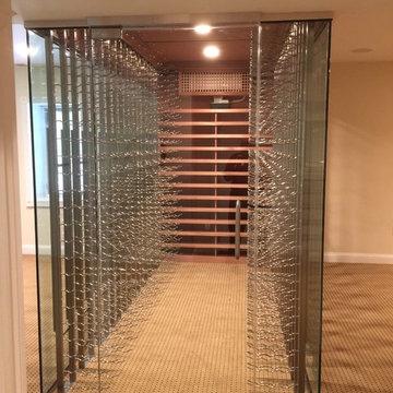 Glass Wine Cube Entry Door
