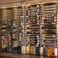 Modern Wine Cellar by Millesime wine racks