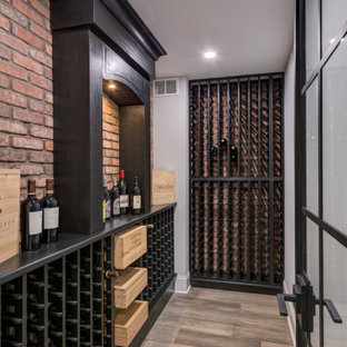 Golf Simulator Basement with Wine Cellar