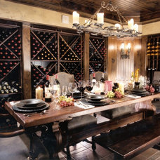 Traditional Wine Cellar by Montgomery Roth Architecture & Interior Design